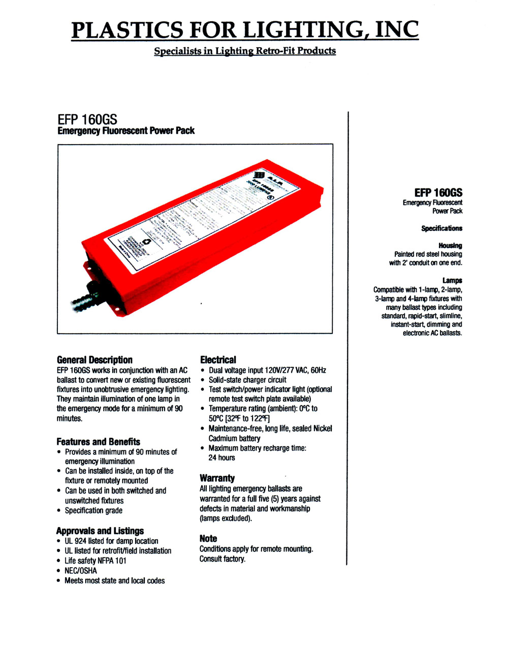 Emergency Power Packs Product Categories Plastics For Lighting Dimmer Switches Electrical 101